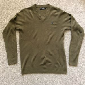 Ralph Lauren Polo 100% Cashmere V-neck Sweater L
